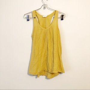 LOFT Mustard Yellow Tank Top | size xs